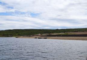 Jezero zatopilo bývalý hnědouhelný lom