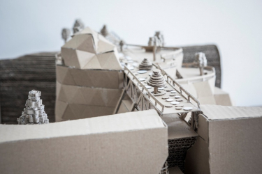 Stavba z vlnité lepenky (ilustrační foto)