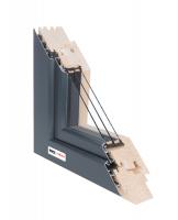 Dřevohliníkové okno 88