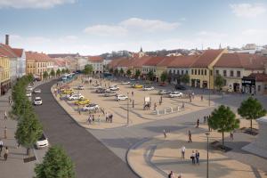 Návrh nové podoby Karlova náměstí v Třebíči zpracoval Ateliér RAW