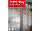Vyšlo nové číslo časopisu Materiály pro stavbu