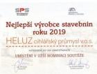 HELUZ opět nominován v soutěži Nejlepší výrobce stavebních hmot