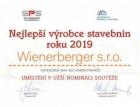 Wienerberger vítězem v soutěži Nejlepší výrobce stavebnin roku 2019