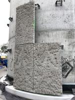 Osazení prvních panelů na připravené úchyty