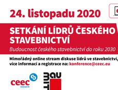 Setkání lídrů českého stavebnictví - online stream