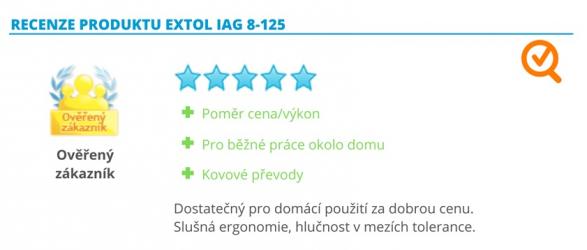 Recenze produktu Extol IAG 8-125