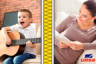 Správná akustická izolace zajistí ve vašem domově ticho, pohodu a klid (zdroj: URSA)