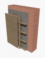 Skladba provětrávané fasády (bez vložené tepelné izolace) s obvodovými bloky HELUZ FAMILY či FAMILY 2in1