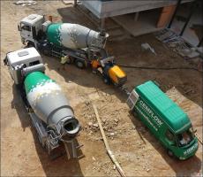 Doprava CEMFLOW na stavbu a ukládka do čerpadla