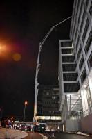 Noční betonáž CEMFLOW do výšky okolo 28 metrů
