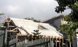 Obr. 2: Železobetonová deska jako nosná konstrukce pro šikmou střechu