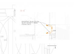 Obr. 1: Schématický řez osazení vířivého ventilátoru v přidruženém prostoru výtahové šachty