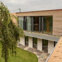 Dřevostavba ve střeše má výhled do zahrady