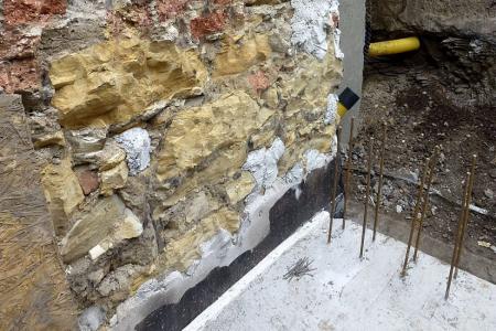 Přístavba k obvodové stěně