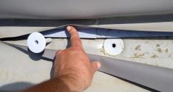 Obr. 13: Špatné mechanické kotvení u patního úhelníku