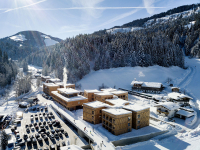 Hotel Tirol Lodge během nádherné zimy v Kaisergebirge (foto Klaus Bauer Photomotion)