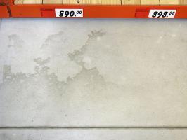 """Obr. 7: Příklady """"flekatosti"""" povrchu podlahy"""