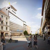 Současný majitel obchodního domu Oldřich Petráček a jeho společnost Transakta chce rozsáhlou rekonstrukcí stavbu v centru Prahy vrátit na výsluní. Spolupracuje přitom s architektonickým ateliérem TaK