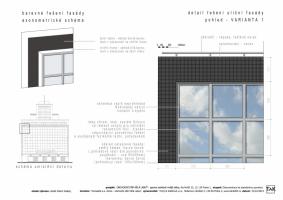 Detail řešení uliční fasády