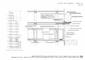 Svislý řez fasádou - detail A (návrh)