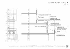 Svislý řez fasádou - detail B (návrh)