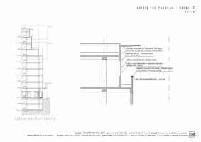 Svislý řez fasádou - detail C (návrh)