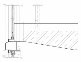 Uchycení stropní desky – původní řešení