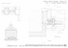 Řešení okenní fasády - ostění lepený obklad