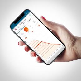 V přehledné aplikaci eLink-App může být přímo na dotykové obrazovce nastaveno devět křivek proporcionálního tlaku a konstantního tlaku pro TacoFlow2 eLink