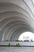 Z průběhu stavby – pro pohledové rámy byly použity betony C30/37 XC1 S4, C30/37 XC4 XF3 S4