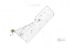 Axonometrie střechy amfiteátru
