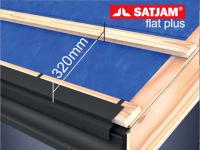 Rozteč laťování pro krytinu SATJAM Flat Plus – 320 mm vzdálenost spodních hran latí