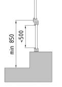 Případ 1: Okno nanízkém parapetu sfixním prosklením pod příčníkem aotevíravým křídlem nad příčníkem.