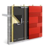 DELTA®-FASSADE 10 za obkladem s otevřenými spárami (≤ 10 mm / 10%). Zdroj: Dörken