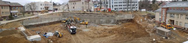 Aktuální stav stavby nového pavilonu v Nemocnici Pelhřimov