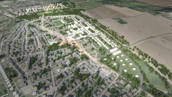 Územní studie - návrh řešeni urbanistického rozvoje, Praha - Dolní Měcholupy