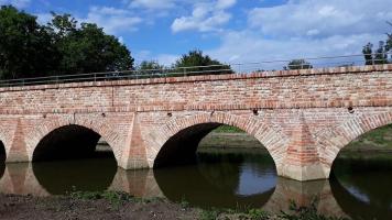 Rekonstrukce historického mostu v lokalitě Portz Insel