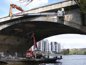 Libeňský most – pod vedením KÚ byl podroben rozsáhlému diagnostickému průzkumu (zdroj: archiv Kloknerova ústavu)