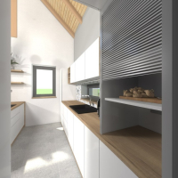 Vizualizace - kuchyně (autor: Ing. arch. Eva Provazníková)