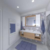 Vizualizace - koupelna rodičů (autor: Ing. arch. Eva Provazníková)