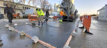 Materiál TOPCRETE je vhodný pro tenkovrstvé sanace starých betonových ploch