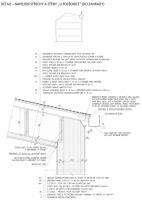 Napojení střechy a stěny u pozednice
