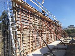 Stavba silážní jámy v obci Nížkovice