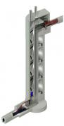 Obr. 1: Výrobky Xypex Concentrate a Modified byly použity pro hydroizolaci a ochranu dvou velkých šachet v srdci nového systému sběru a dopravy odpadních vod v pražské čtvrti Ďáblice Velká kanalizační šachta má výšku 36 m, průměr 6 m a obsahuje spirálový kanalizační žlab a revizní schodiště