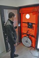 Blower-door test, dálkové ovládání