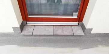 Obr. 7: Provedení obkladu vnějšího schodu