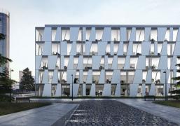 Chytrá budova je modulová budova. Modulová fasádová platforma Schüco AF UDC (hliníková dynamická modulová fasáda) zahrnuje kompletní nabídku od systémových řešení až po individuální projekty (zdroj: Schüco)