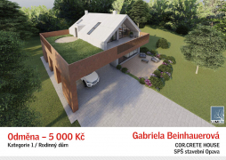 Rodinný dům - odměna: Gabriela Beinhauerová