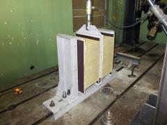 Experiment I, provedený na zvětšeném zdvojeném vzorku z MW s plochou 300x420 mm a tloušťkou 200 mm