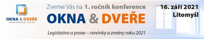 1. ročník konference ČKLOP - OKNA & DVEŘE 2021